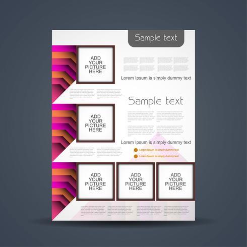 Abstrakt affärsmall broschyr vektor
