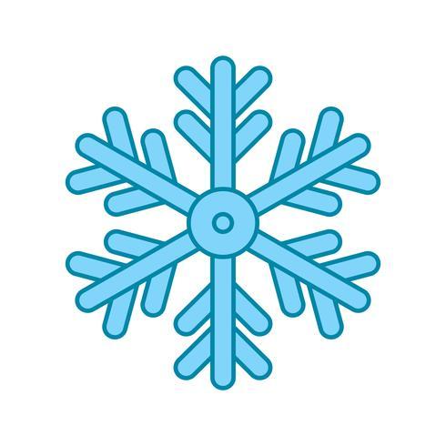 icono de copo de nieve de vector