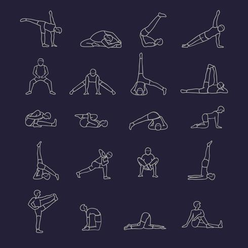 Icone di posizioni yoga