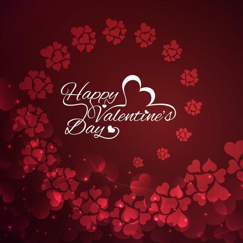 Modern Happy Valentine's day background vector