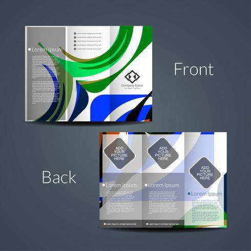 Plantilla de folleto tríptico empresarial abstracto