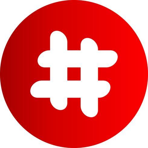 Vector Hash ikon