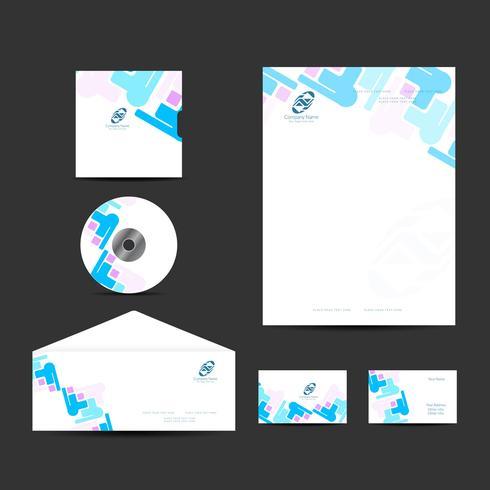 Conjunto de design de identidade de negócios modernos