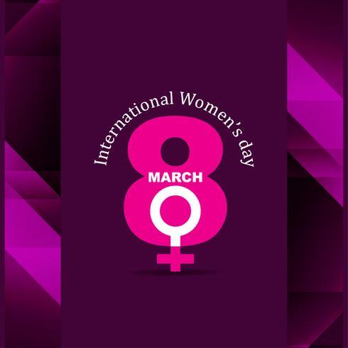 Fundo do dia das mulheres modernas