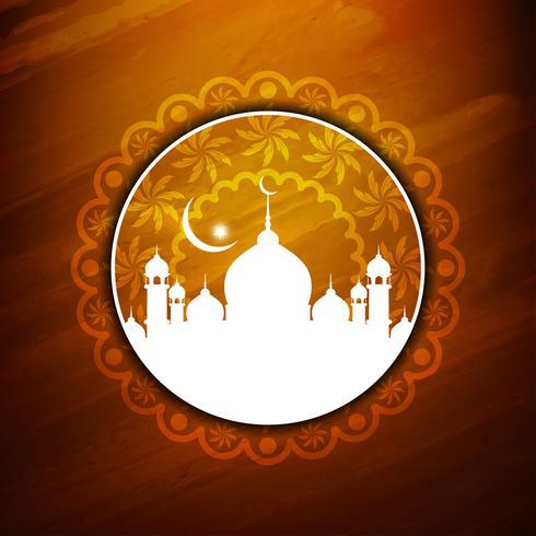 Abstrakt Eid Mubarak bakgrund vektor