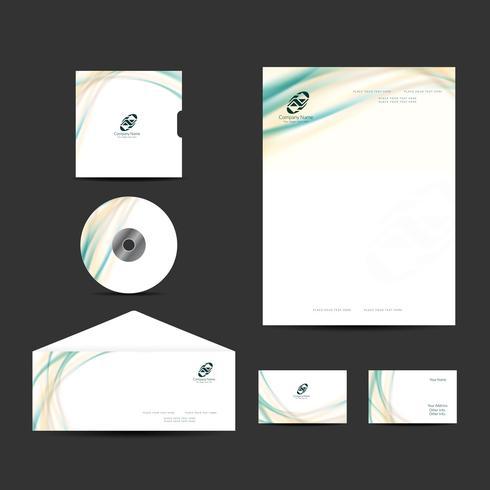Modern business identity design set vector