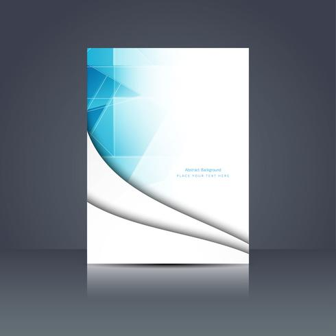 Abstract modern business brochure template vector