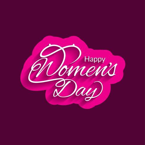 Modern Women's day background vector