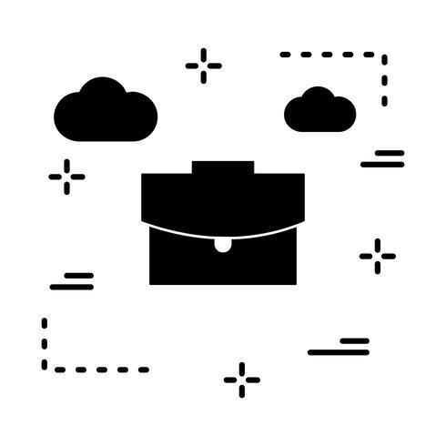 icono de maletín de vector