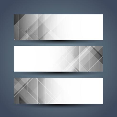 Moderne elegante Banner gesetzt