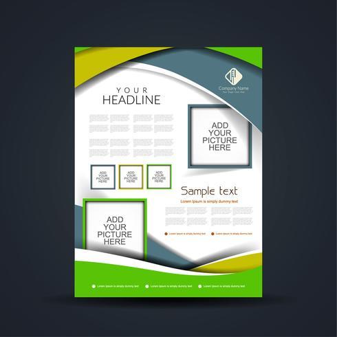 Design de brochura comercial moderna