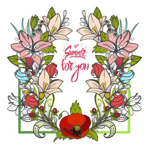 Sommerblumenstrauß von Blumengänseblümchen und -astern auf weißem Hintergrund.