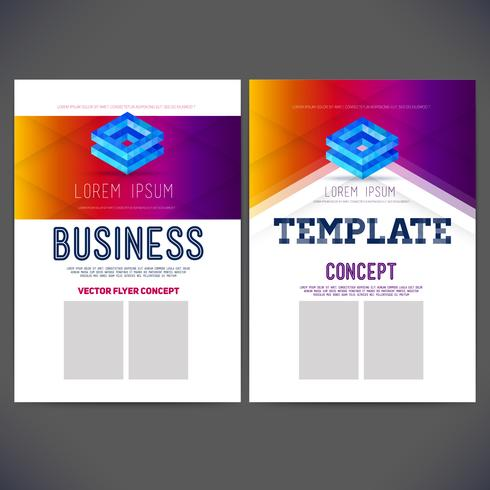 Estilo corporativo del diseño abstracto de la plantilla del vector para el negocio, folleto, aviador, página