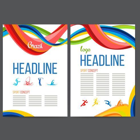 Brochure Concept Braziliaans carnaval vector