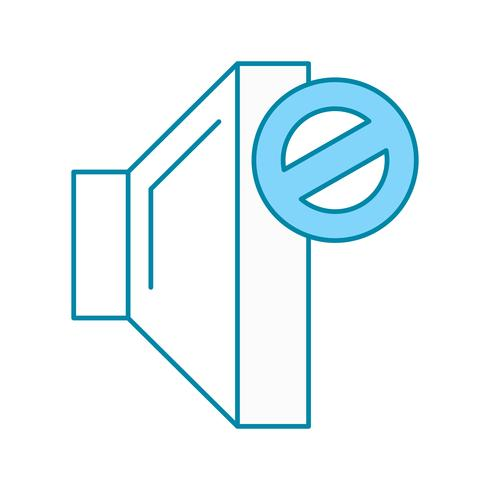 icône muet de vecteur