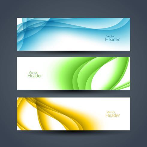 modern elegant banner set vector