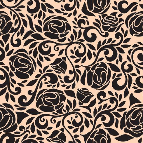 Abstract naadloos kantpatroon met bloemenroos.