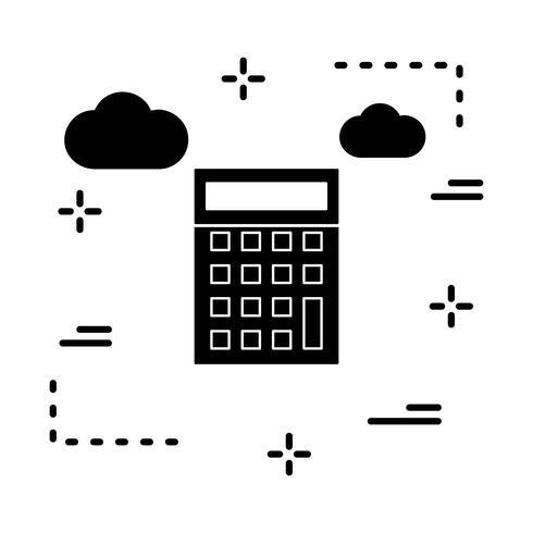 icono de calculadora de vectores