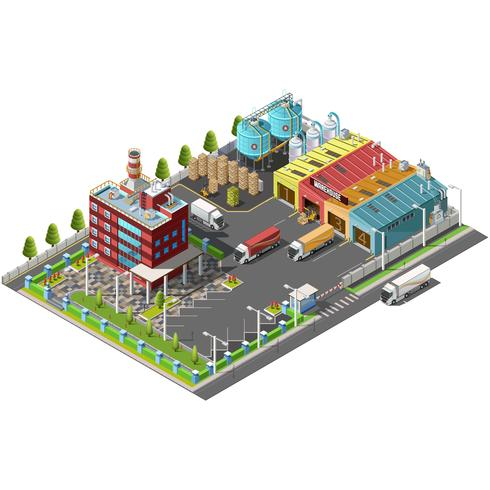 Loading and shipping docks vector