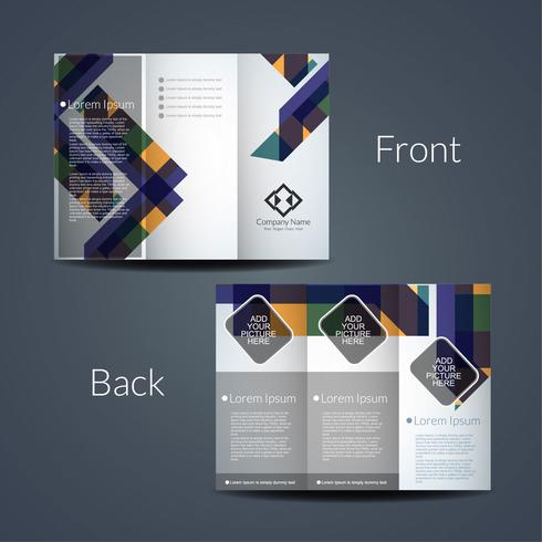 Abstract tri fold business brochure template vector