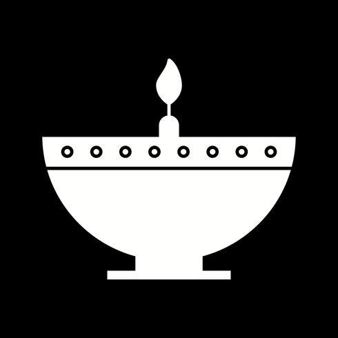 vector diwali lamp icon