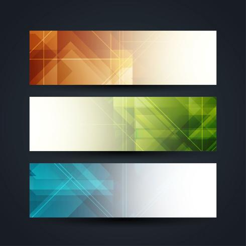 Set di banner moderni ed eleganti