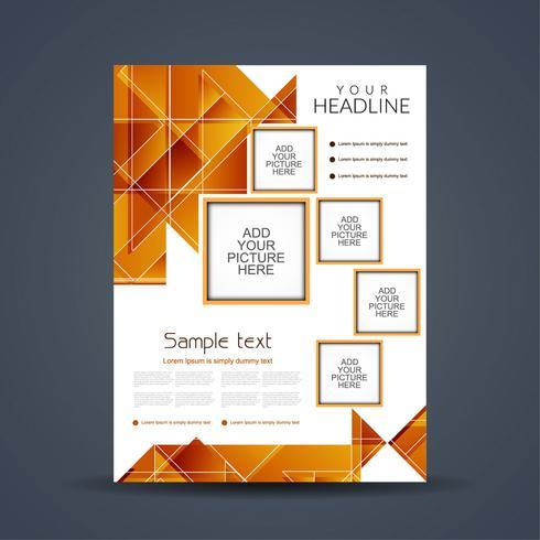 Abstracte moderne zakelijke brochure sjabloon vector