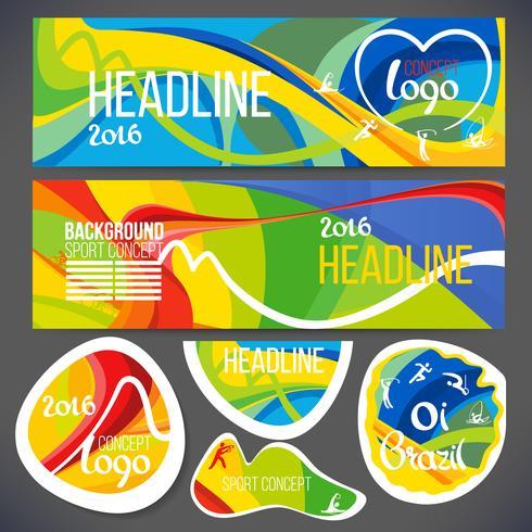 Diseño de plantillas de Banners deportivos vector