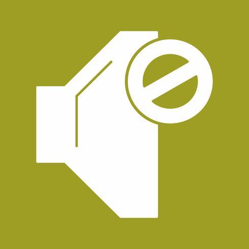vector mute icon