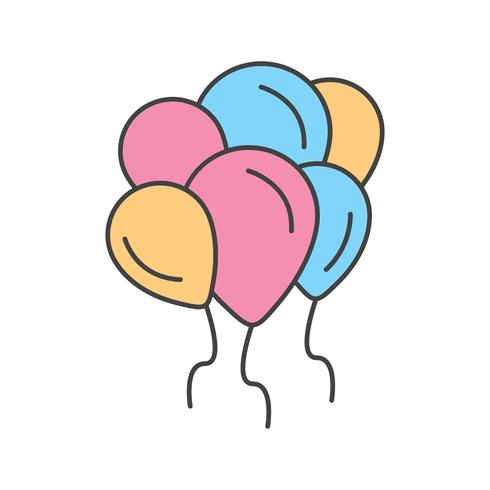 vector baloons icon