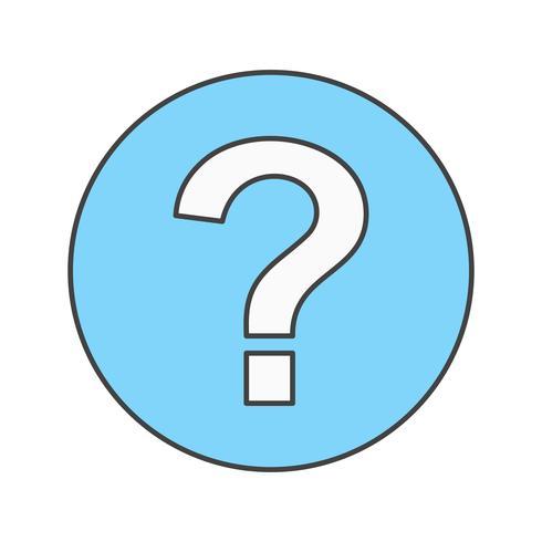 ícone de pergunta de vetor