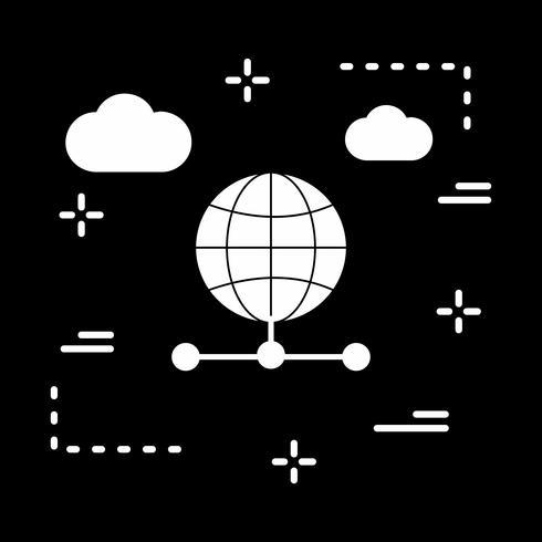 vektor server global ikon