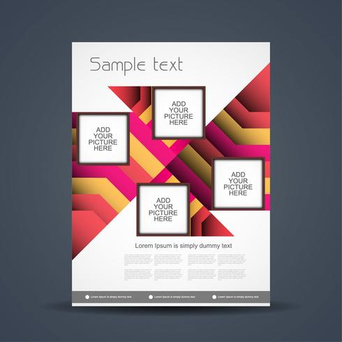 Plantilla de folleto de negocio abstracto