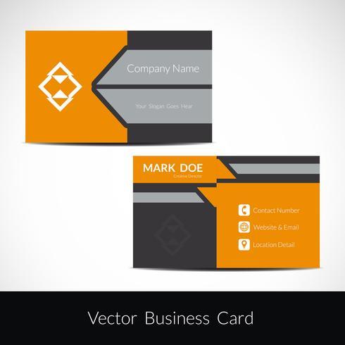 Modern visiting card template vector