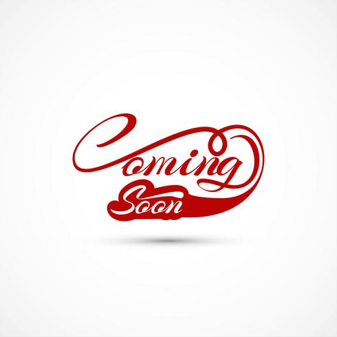 Modern coming soon text background vector