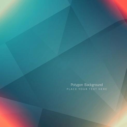 Modern geometric polygon background vector