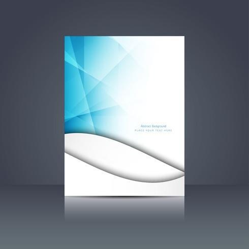 Modern business brochure template vector
