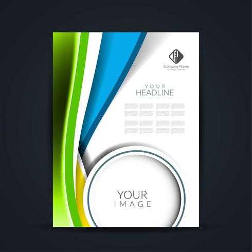 Modern business brochure design  vector