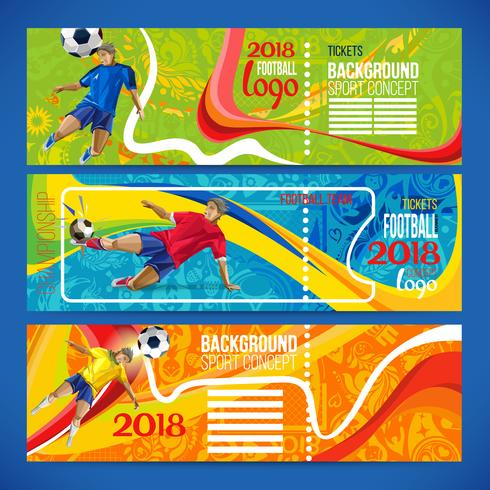 Concept of soccer player with colored geometric shapes vector