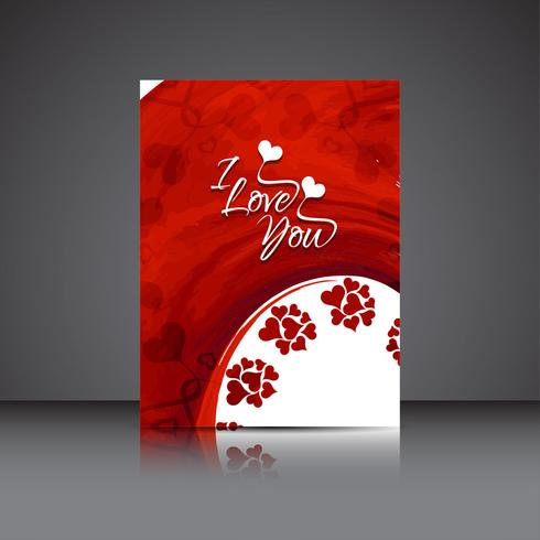 Modernt valentins dag elegant broschyrmall vektor