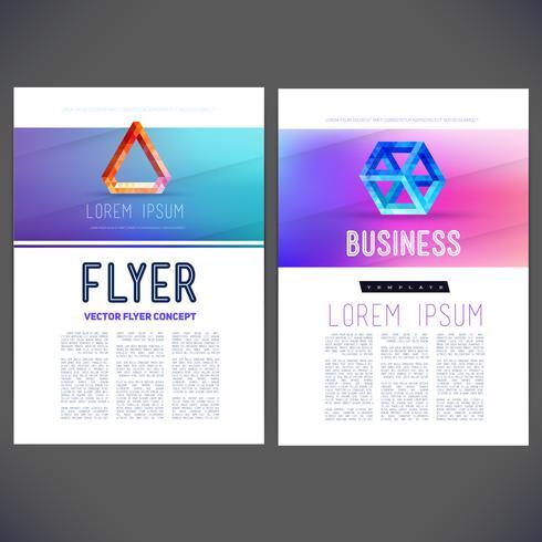 Resumen de vectores plantilla de diseño, folleto, folleto