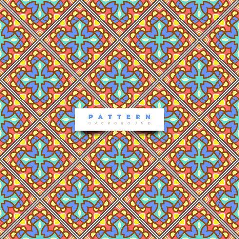 Boho tile seamless pattern background