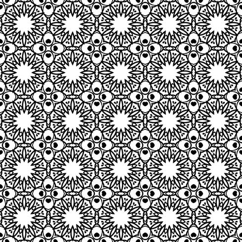 Seamless floral ornament on background