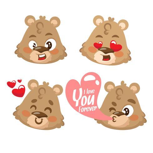 Niedliche Teddybärzeichentrickfilm-figur