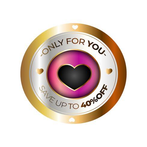 Emblema de venda do dia dos namorados