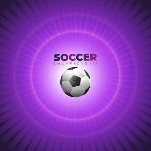 Fondo de fútbol o fútbol con balón.