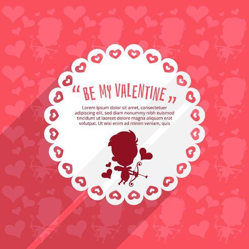 Cupido Valentijnsdag achtergrond
