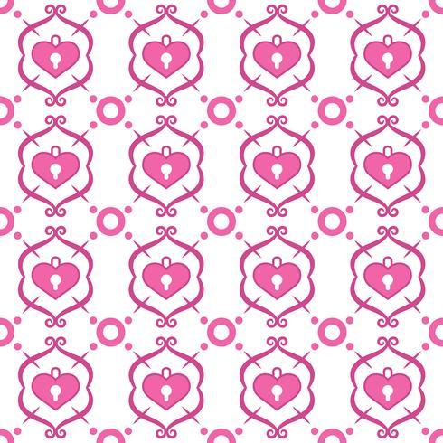 Patrón de decoración con corazones.