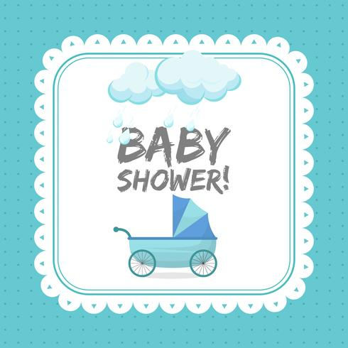 Baby Shower Invitation Card Template Download Free Vectors