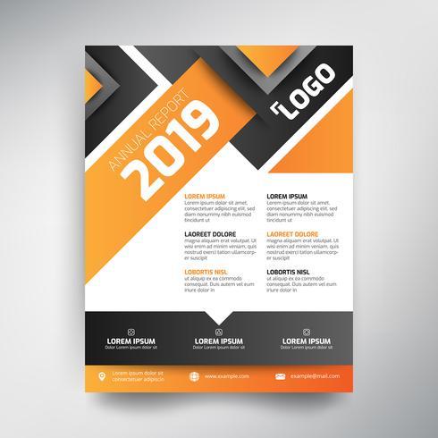 Modèle de rapport annuel, design moderne, tons orange et noir